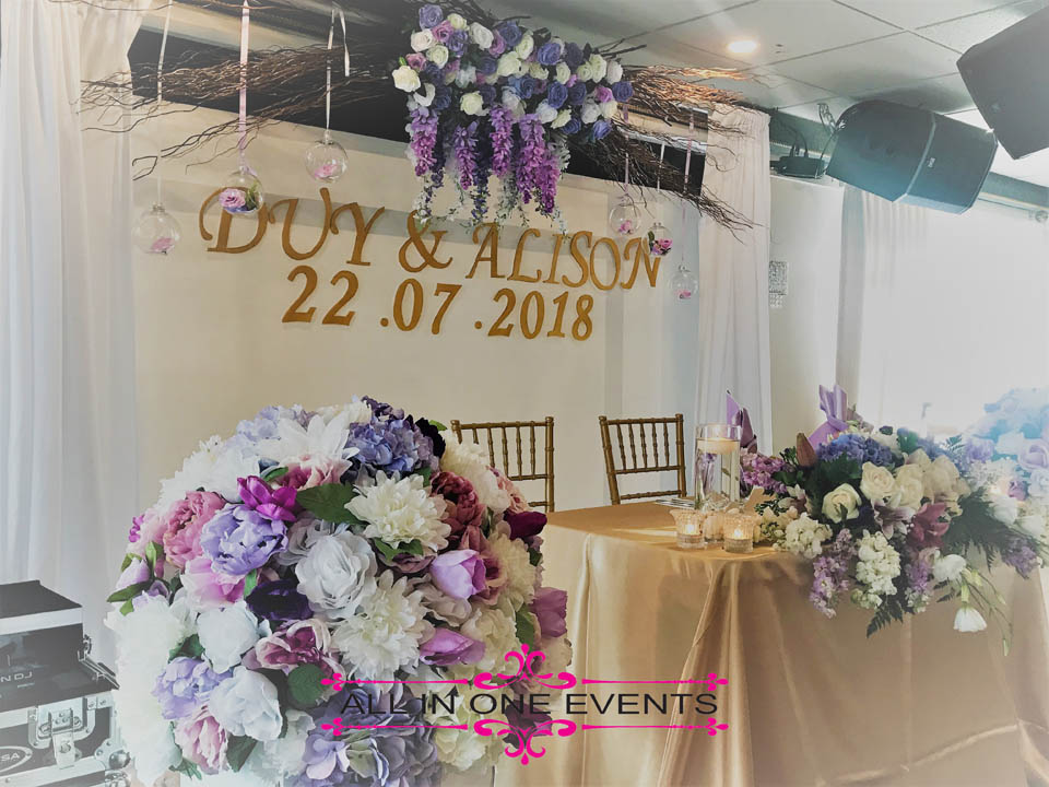 All in One Events - Duy & Alison Wedding