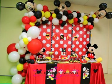 Mickey Mouse Themed Birthday Party - All In One Events